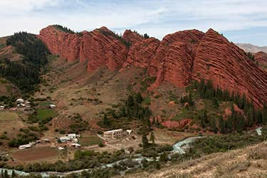 Image result for Red mountains of the Alai Valley Osh Province, Kyrgyzstan.