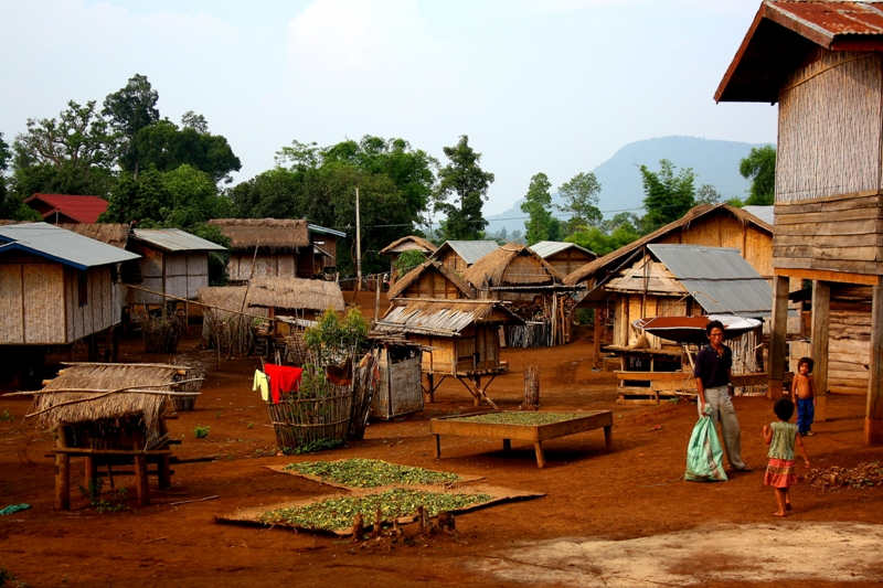 Village life on the Bolaven Plateau in Laos