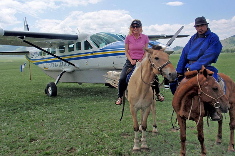 Catherine Heald rides horses in Mongolia