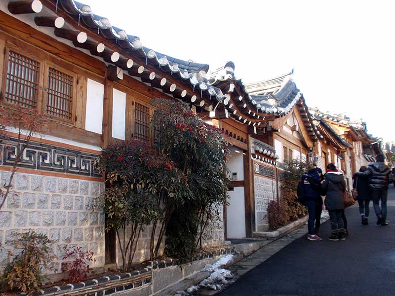 The traditional streets of Seoul