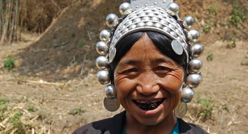 Akha tribeswoman, Kengtung, Myanmar
