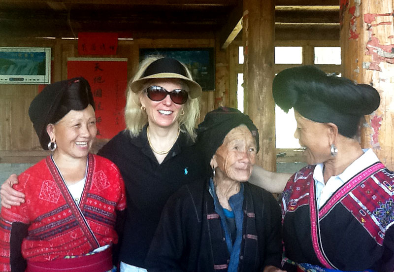 Making friends with the Zao ladies