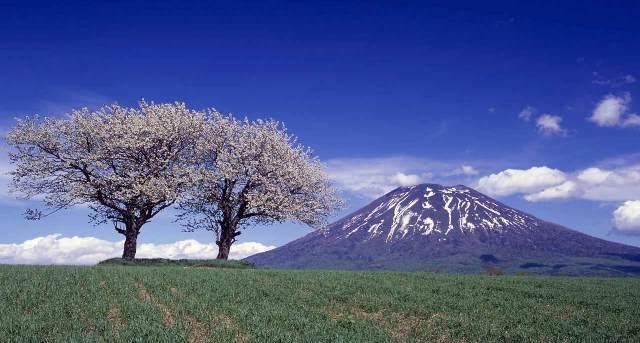 Hokkaido's Mt Yotei in spring