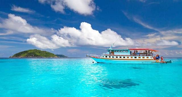 The pristine waters of the Similan Islands