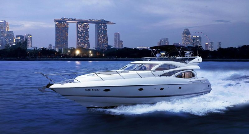 Cruising through Marina Bay, Singapore