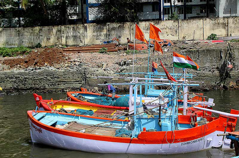 Colorful Koli fishing boats