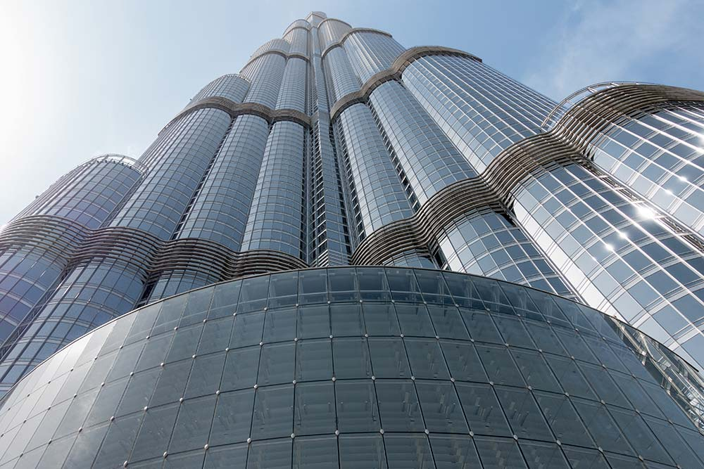 The Burj Kalifa is the tallest building in the world and dominates the Dubai skyline.
