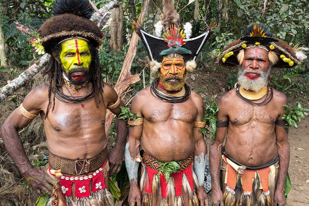 "Performers of the Huli ""Sun Dance"""