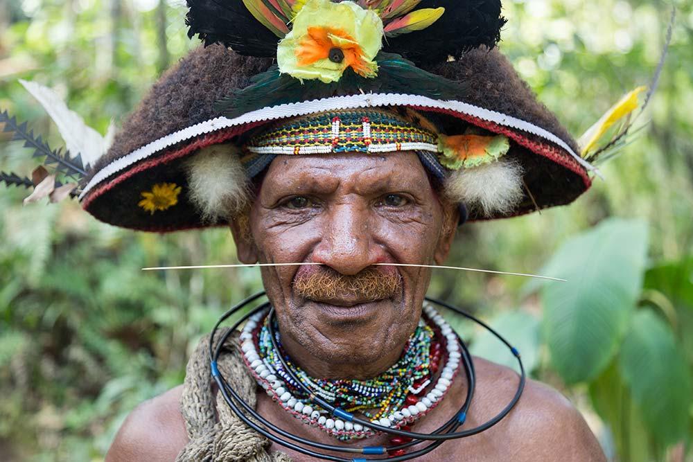 "The Huli ""Wig Master"" at the Wig School in Tari."