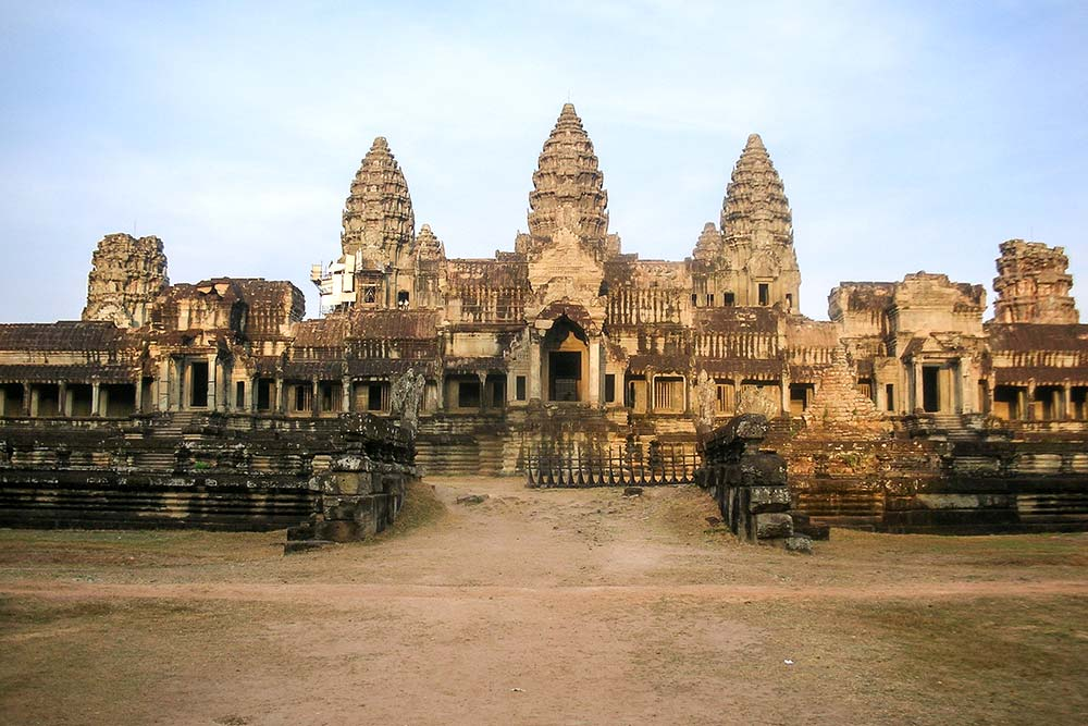 The rear entrance of Angkor Wat shortly after sunrise is the place to be.