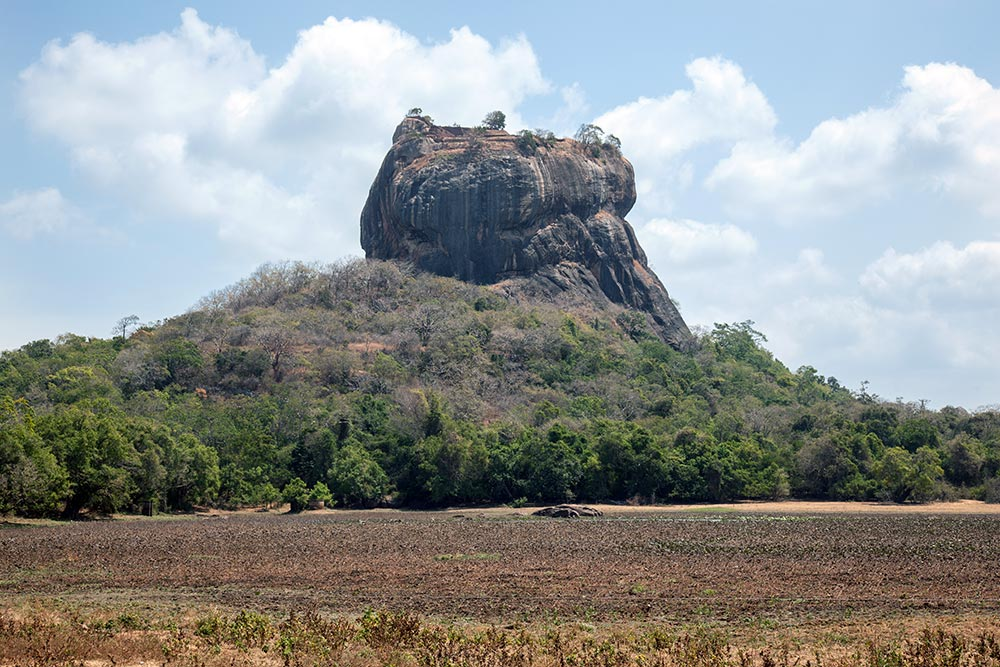 The 5th century city of Sigiriya from a distance.