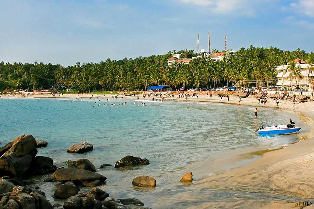 Kovalam is a beach town overlooking the Arabian Sea,India.