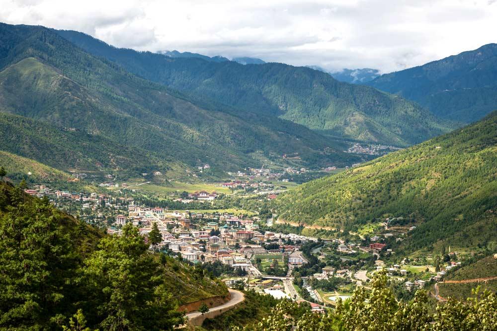 Thimphu capital city of Bhutan village house