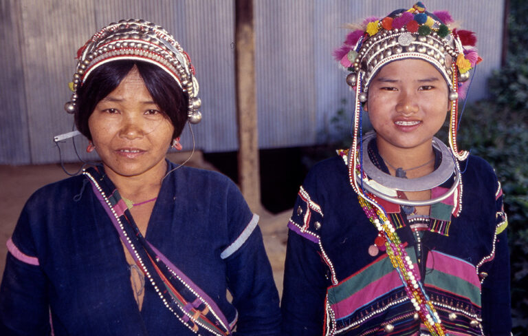 Akha mother and daughter.
