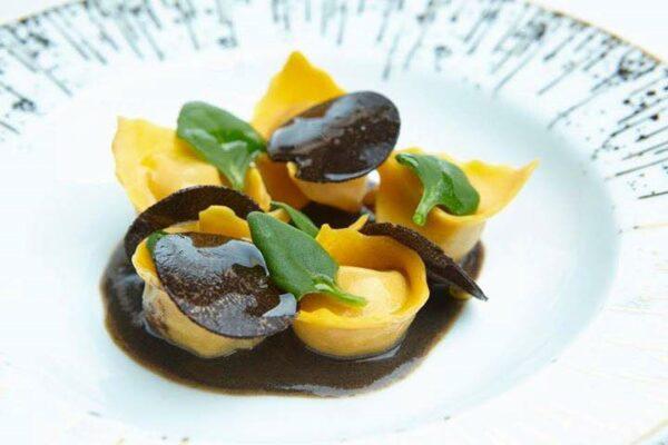 Black truffle ravioli