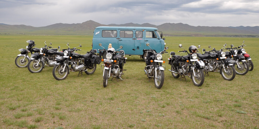 Taking a Royal Enfield across the Mongolian Steppes