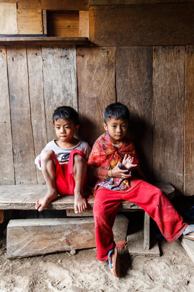 Young-boys-in-a-traditional-village-on-the-trek-to-Batad