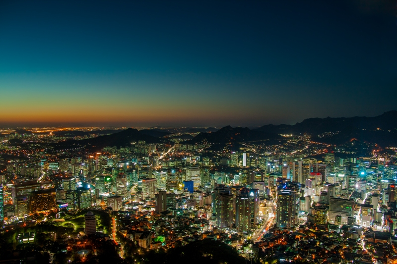 The bright lights of Seoul