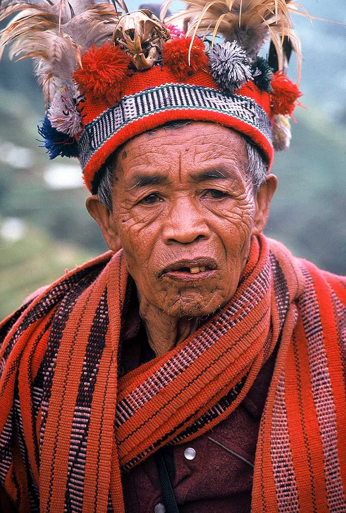 An Ifugao elder, one of few still wearing his traditional clothing.