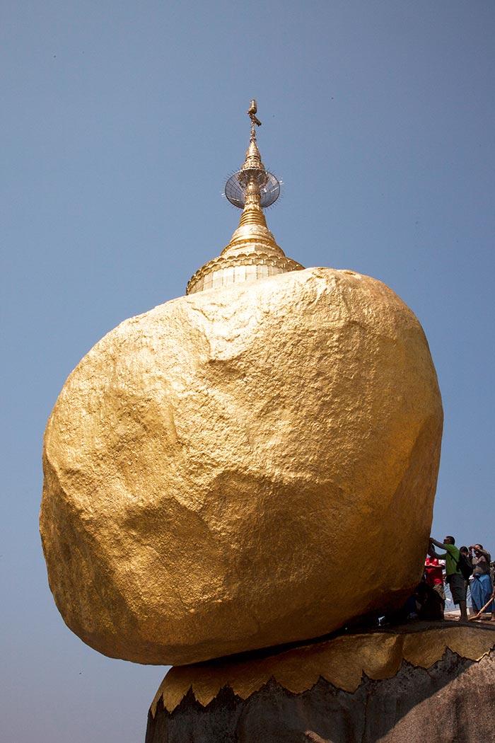 It is amazing that despite numerous earthquakes, Golden Rock has never fallen down.