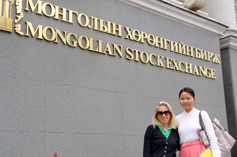 Catherine Heald visits the Mongolian Stock Exchange