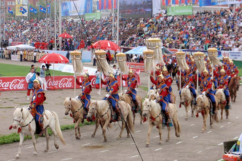 Opening Naadam procession
