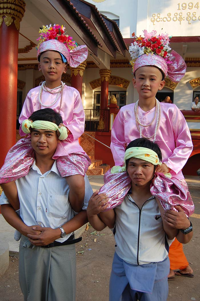 Two young boys who had just become novice monks.