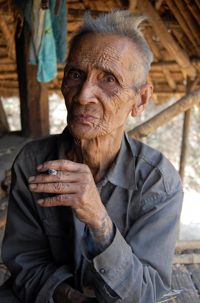 A Loi elder in the village of Ban Ngaek.