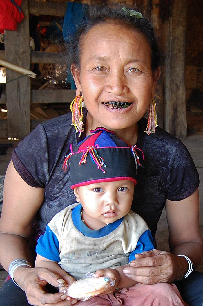 An Ann tribe woman and her child.