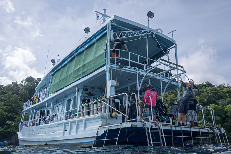Our dive boat & floating home