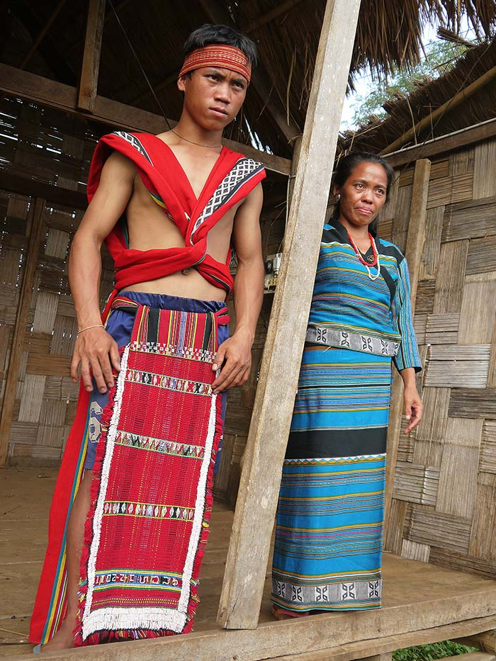 Kata tribe wearing their traditional clothes -- which are usually only worn for festivals.