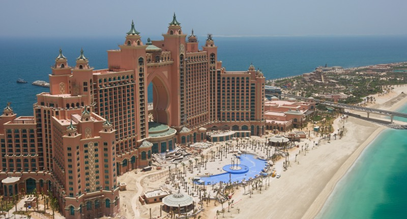 The spectacular Atlantis theme park