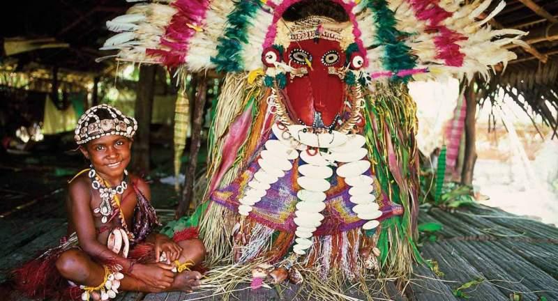 Making tribal masks in the Sepik Region of PNG