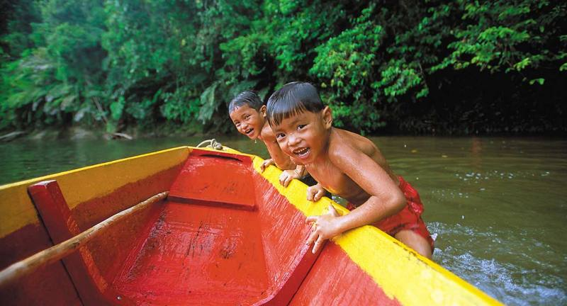 Iban kids, Temburong, Brunei