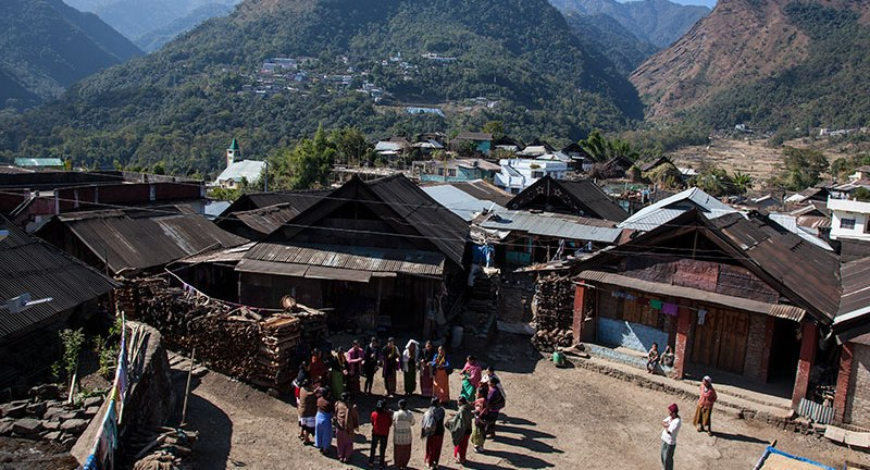 Typical Nagaland village