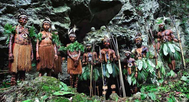 Dani tribespeople, Papua