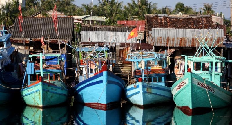 Fishing boats in Duong Dong harbour, Phu Quoc, Vietnam