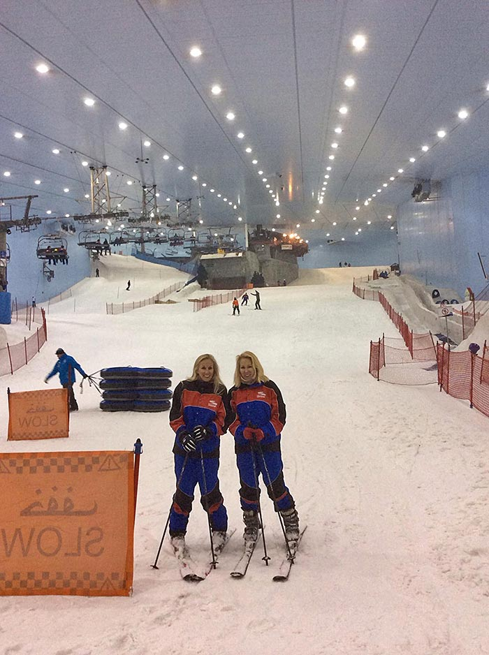 Skiing at the Dubai Snow Park