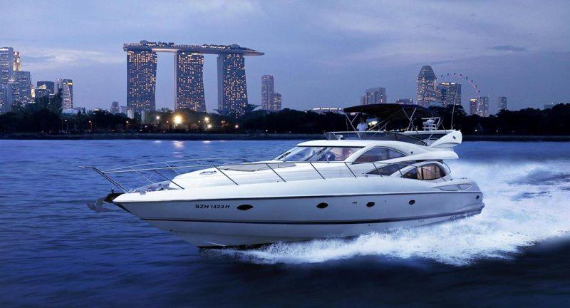 Cruising through Marina Bay, Singapore