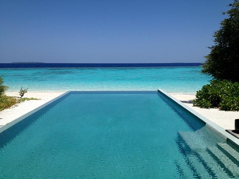 Private pool in the Maldives