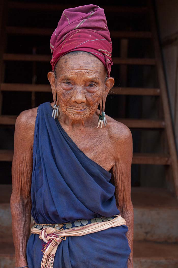 This old Kayah woman told me stories of when the Japanese invaded their village, and how I was the first western person she had ever seen.