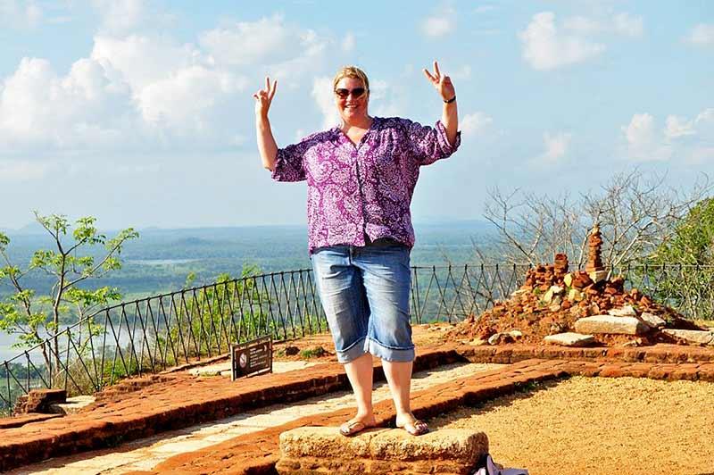On top of Sigiriya fortress.