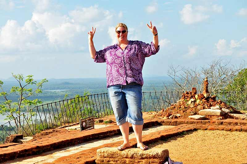 On top of Sigiriya fortress.