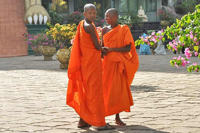Buddhist monks in Sri Lanka