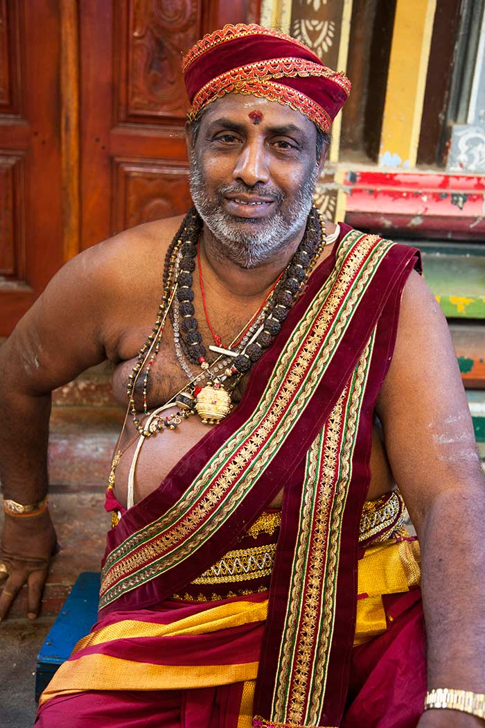 The chief priest at Koneswaram Temple