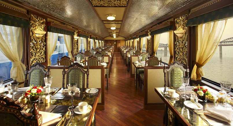 A meal fit for royalty on the Maharajas' Express