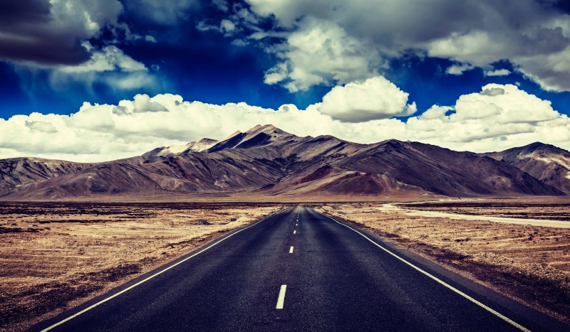 Wide open roads in Ladakh