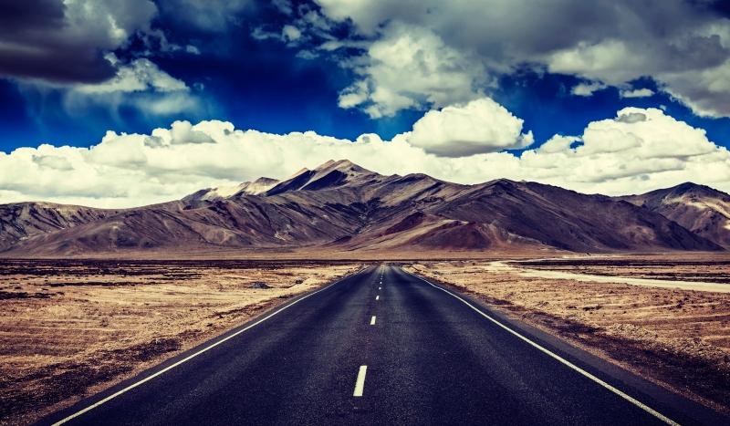 Wide open roads in Ladakh
