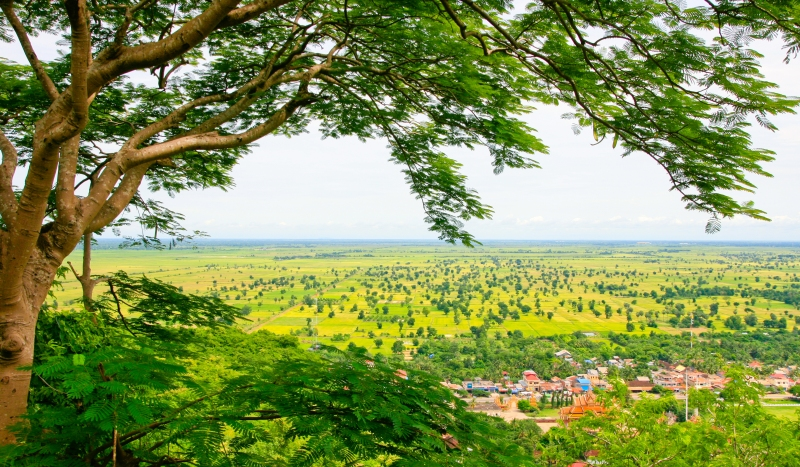 The view from Phnom Sampeau near Battambang