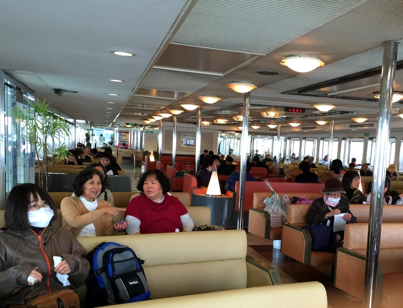 On board the ferry to Naoshima